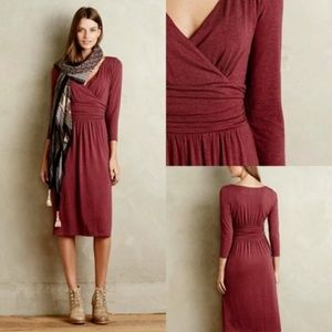 Anthropologie Maeve Galena Midi Dress sz Small C26